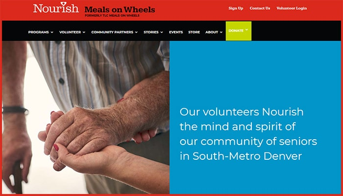 Nourish Meals on Wheels Website