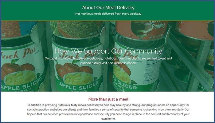 TLC Meals on Wheels Homepage