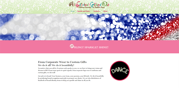 All Stitched and Glitzed Out Website