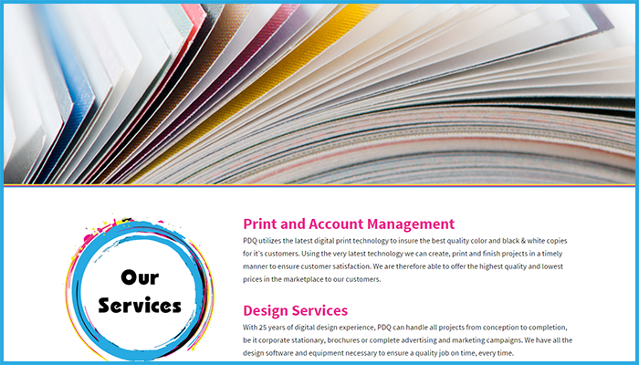 Printing Done Quickly Website