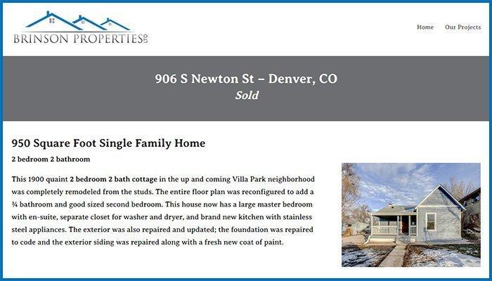 Brinson Properties Website