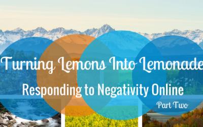 Responding to Negativity Online