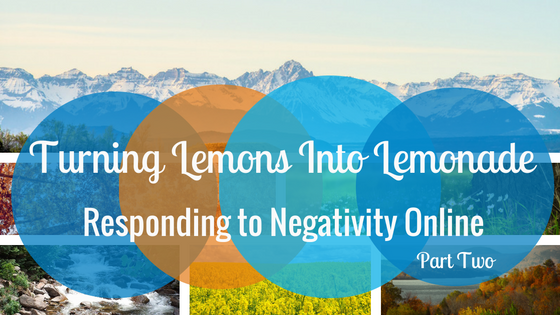 Responding to Negativity Online, Part 2