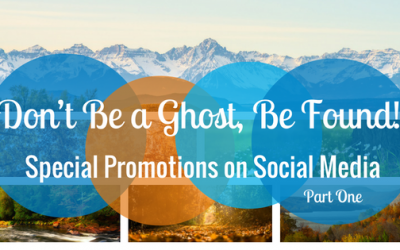 Don't Be a Ghost, Be Found! Special Promotions on Social Media