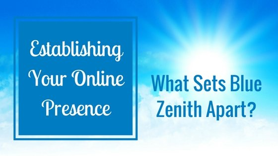 Establishing your Online Presence