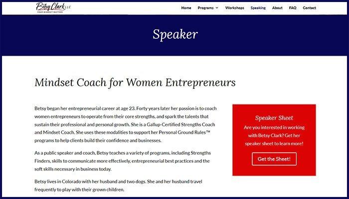 Betsy Clark LLC Website