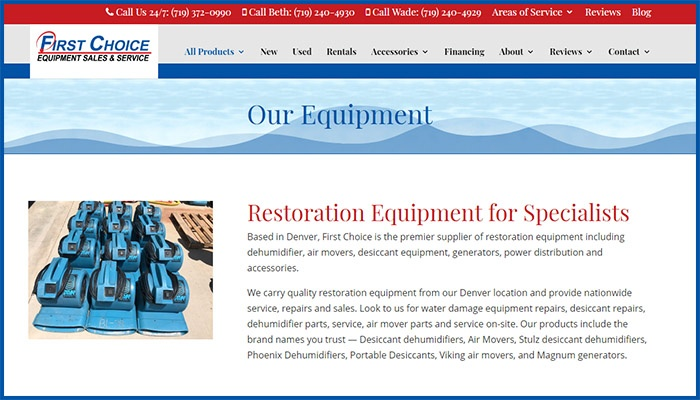 First Choice Drying Equipment Website