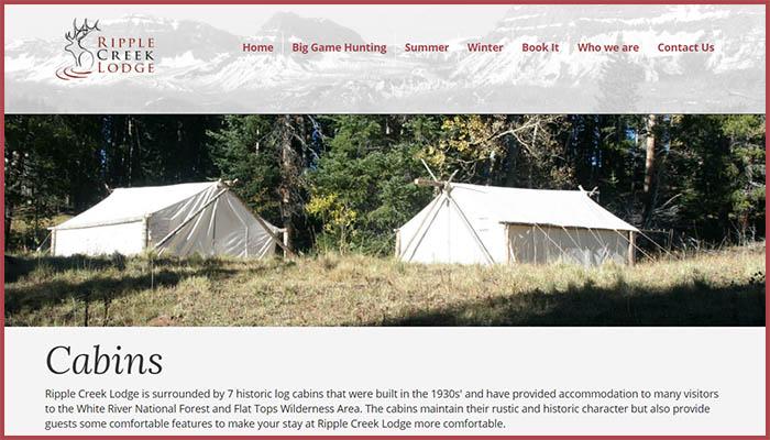 Ripple Creek Lodge Website