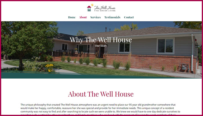 The Well House Website