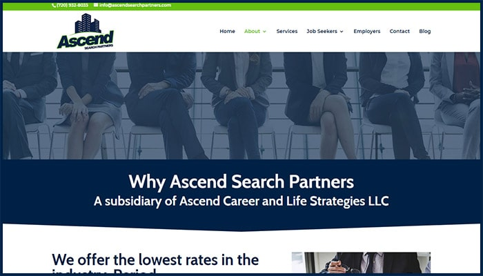 Ascend Search Partners Website