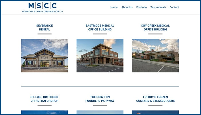 Mountain States Construction Co. Website