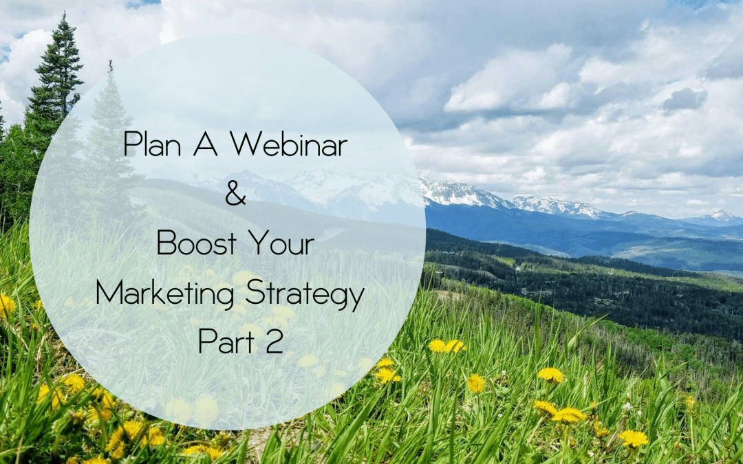Plan A Webinar & Boost Your Marketing Strategy ~ Part 2
