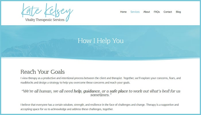 Kate Kelsey's Services Page