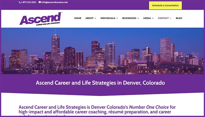 Ascend Career and Life Strategies Website