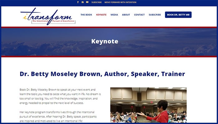 Dr. Betty Moseley Brown's keynote page
