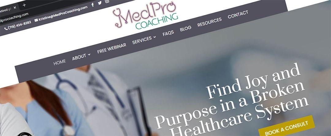 MedPro Coaching's Website