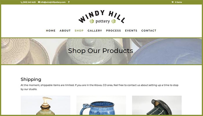 Windy Hill Pottery - Shop Our Products