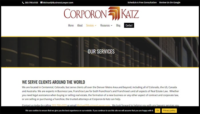 Corporon & Katz's Services