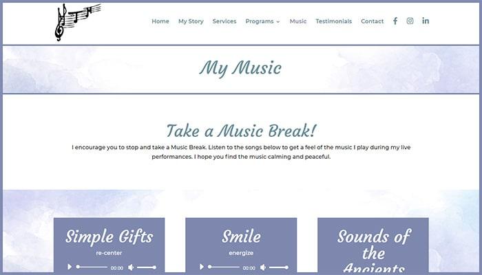 Health Through Music - My Music Page