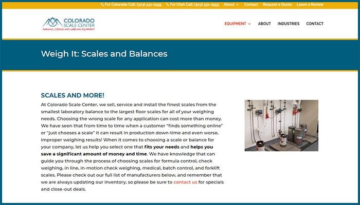 Colorado Scale Center's Services